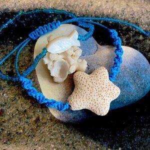Lava Stone Pearl fish braided bracelet s